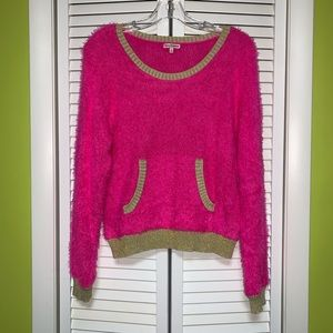 Juicy Couture pink fluffy sweater size S
